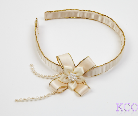 Ivory/Gold~ Girls Alice Bands